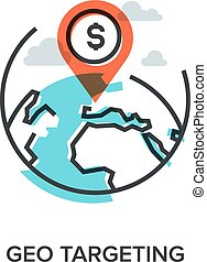 geo targeting - Vector illustration of geo targeting flat...