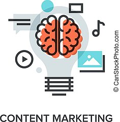 content marketing - Vector illustration of content marketing...