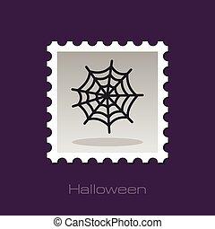 Spider web halloween stamp