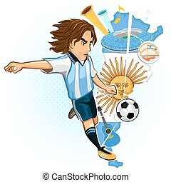 Argentine Argentina Soccer Cup - Argentines Soccer Player...
