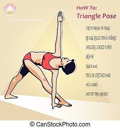 YOGA How To Triangle Pose - Visual aids proper execution of...