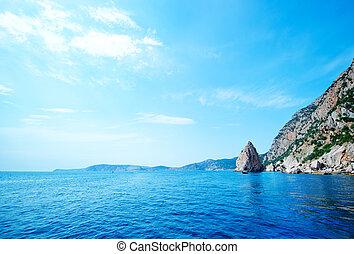 sea in Crimea - sea and blue sky in Crimea, sea and sky