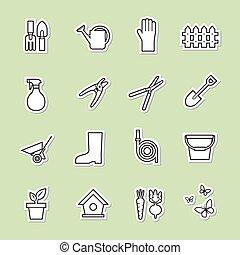 工具, 花園, 圖象