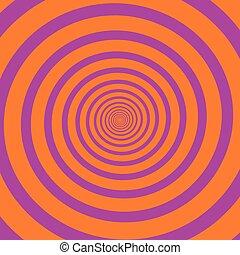 Pink Orange Spiral - Pink orange hypnotizing spiral. Vector...