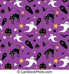 Halloween spooky pattern
