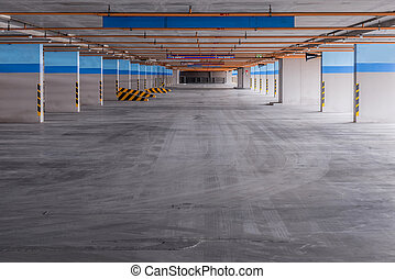 Empty parking garage on the building