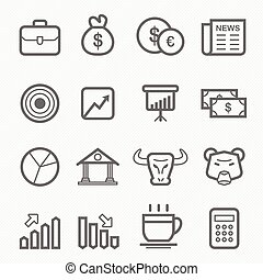 stock and market line icon