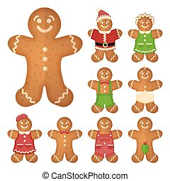 Gingerbread man. Christmas cookie holiday, sweet food,...