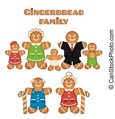 Gingerbread family. Confectionery son mother father...