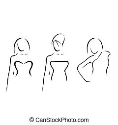 Abstract women with beautiful necklines