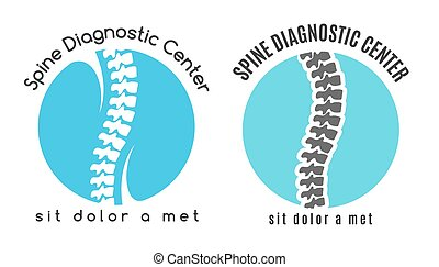 Spine medical diagnostics symbol or logo Medicine and...