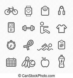 exercise symbol line icon on white background