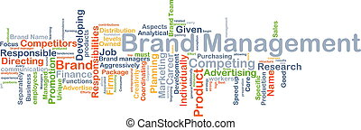 Brand management background concept - Background concept...
