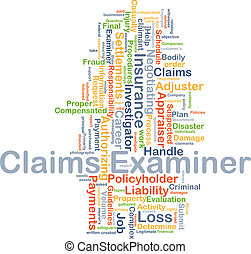 Claims examiner background concept - Background concept...