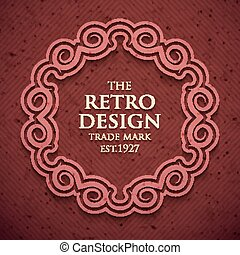 Luxury elegant frame in old retro style . Vector...