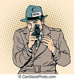 Journalist takes on retro camera Paparazzi snooping tabloid...