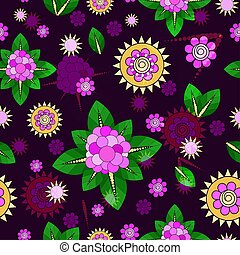 Seamless floral pattern. Vector ill