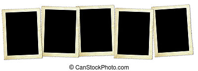 Retro Photo Frames - Five vintage photo frames, with...