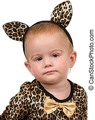 Dress Up - Little toddler with her costume