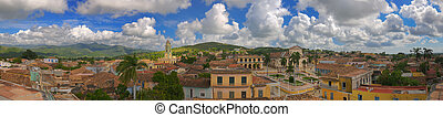 Trinidad town panorama, cuba - Panoramic view of Trinidad...