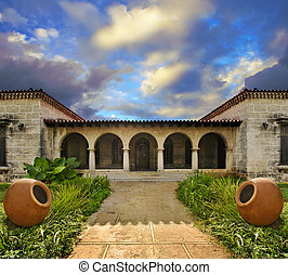 Tropical cuban house - View of luxurious tropical residence...