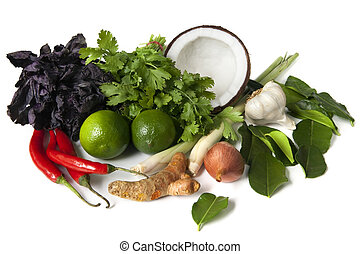 Thai Food Ingredients - Ingredients for Thai food, ready for...