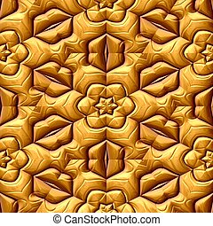 gold floral ornament seamless pattern texture background...