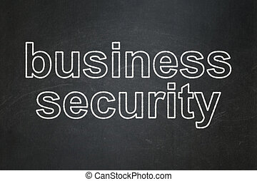 Protection concept: Business Security on chalkboard background