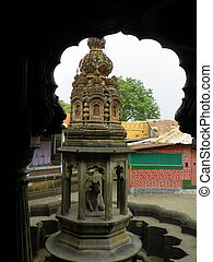 Shikhara on top of Nandi - The Shikhara on top of the Nandi...