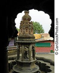 Shikhara on top of Nandi - The Shikhara on top of the Nandi...