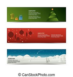 Christmas horizontal banner template vector eps 10