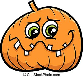jack lantern cartoon - Cartoon Illustration of Halloween...