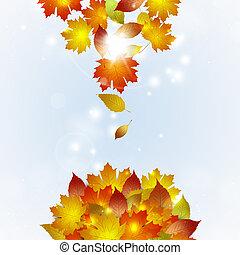 otoño, Caer, hojas