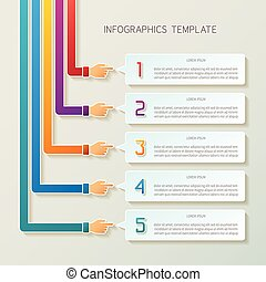 Abstract vector 5 steps infographic template in 3D style for...