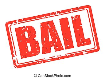 Bail red stamp text on white