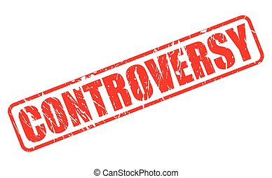 CONTROVERSY red stamp text