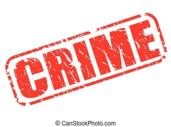 CRIME red stamp text