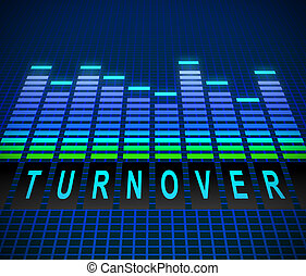 Turnover concept - Illusration depicting graphic equalizer...