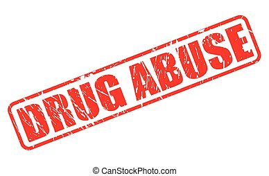 DRUG ABUSE red stamp text