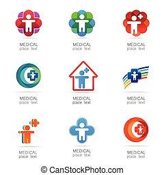 medical logo set - Medical logo - the concept for sign a...