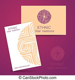 ethnic traditions logo - Ethnic logo - a traditional symbol...