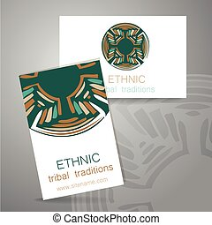 ethnic traditions logo - Ethnic logo - a traditional symbol....