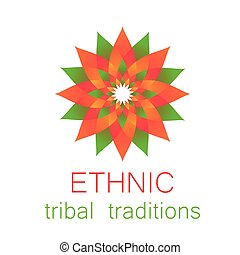 Basic RGB - Ethnic logo - a traditional symbol. Template...