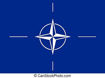 NATO flag - Vector flag of the NATO / North Atlantic...
