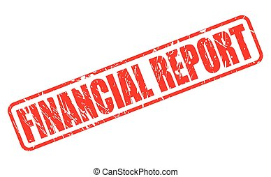 FINANCIAL REPORT red stamp text on white