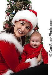 Mom and Baby Santa