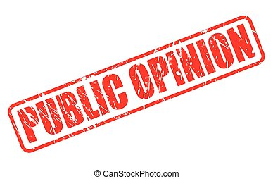 PUBLIC OPINION red stamp text on white