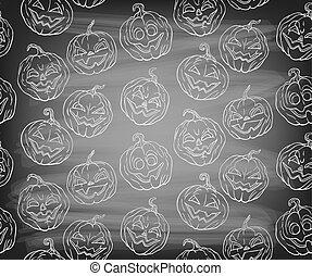 Halloween pumpkins - Seamless pattern with Halloween...
