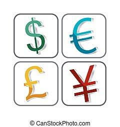 World currency symbol vector icon