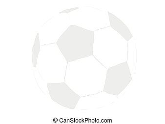 Transparent soccerball - Illustration of a transparent...
